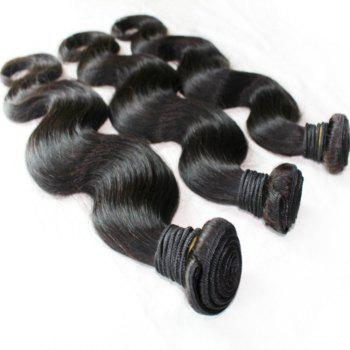 Body Wave 100 Percent Brazilian Human Hair Weave 18 inch 4pcs/lot - NATURAL COLOR 18INCH*18INCH*18INCH*18INCH