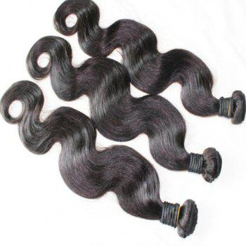 Body Wave 100 Percent Peruvian Human Hair Weave 18 inch 4pcs/lot - NATURAL COLOR 18INCH*18INCH*18INCH*18INCH