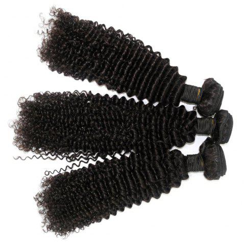 Kinky Curl 100 Percent Brazilian Human Virgin Hair Weave 10 - 22 inch 4pcs/lot - NATURAL COLOR 12INCH*12INCH*12INCH*12INCH