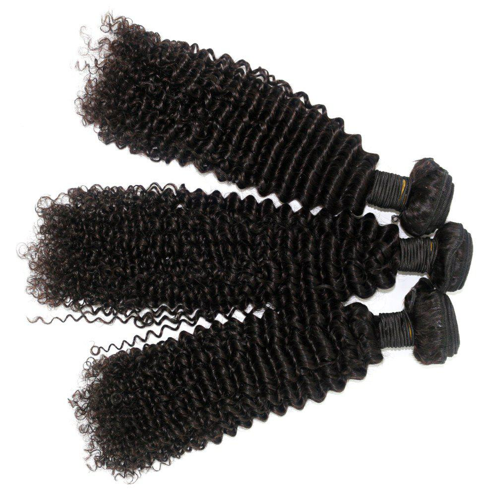 Kinky Curl 100 Percent Brazilian Human Virgin Hair Weave 10 - 22 inch 4pcs/lot - NATURAL COLOR 16INCH*18INCH*20INCH*22INCH