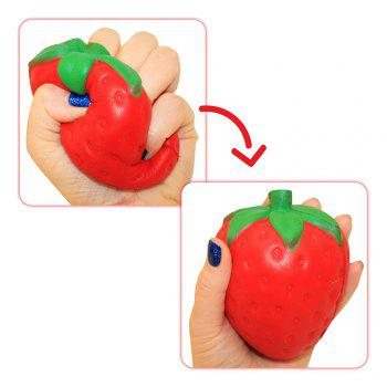 Jumbo Squishy Slow Rising Stress Relief Toys Kawaii Fruit Designs Strawberry Banana Watermelon Lemon for Kids Adults - COLOUR