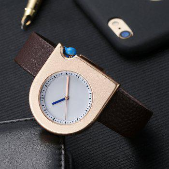 T005 Unisex Fashion Leather Strap Wrist Watches with Box -  ROSE GOLD/BROWN