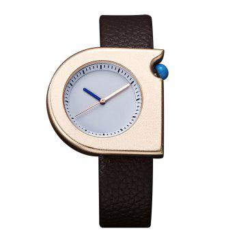 T005 Unisex Fashion Leather Strap Wrist Watches with Box - ROSE GOLD AND BROWN ROSE GOLD/BROWN