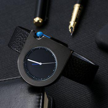 TOMI T005 Unisex Fashion Leather Strap Wrist Watches with Box - BLACK