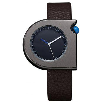 TOMI T005 Unisex Fashion Leather Strap Wrist Watches with Box - BLACK AND BROWN BLACK/BROWN