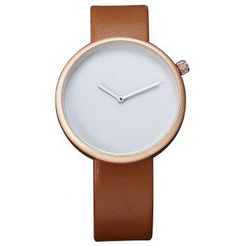TOMI T006 Men Casual Soft Leather Band Quartz Watches with Box - ROSE GOLD AND BROWN ROSE GOLD/BROWN