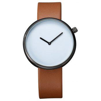 TOMI T006 Men Casual Soft Leather Band Quartz Watches with Box - BLACK AND BROWN BLACK/BROWN