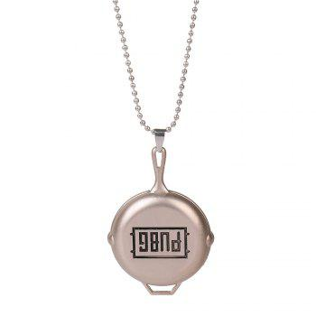 PUBG Playerunknowns Battlegrounds Pan KeyChain and Necklace Pendant Gift for Fans - BRONZED