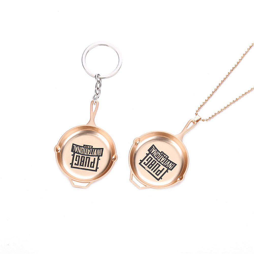 PUBG Playerunknowns Battlegrounds Pan KeyChain and Necklace Pendant Gift for Fans - GLOD