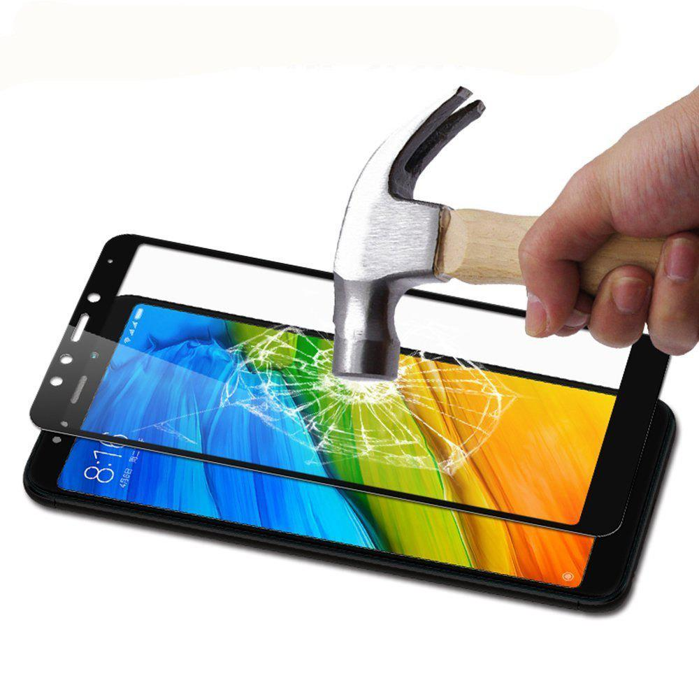 2PCS Screen Protector for Xiaomi Redmi 5 Plus HD 3D Full Coverage High Clear Premium Tempered Glass - BLACK