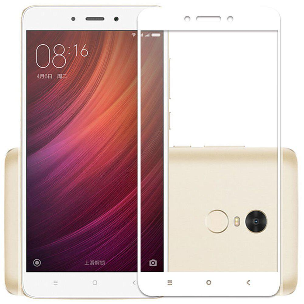 2PCS Screen Protector for Xiaomi Redmi Note 5 HD 3D Full Coverage High Clear Premium Tempered Glass - WHITE