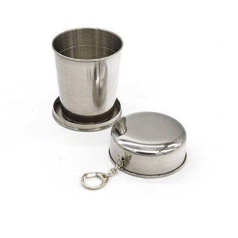 Creative Stainless Steel Retractable Cup Portable Outdoor Wine Cup. - SILVER