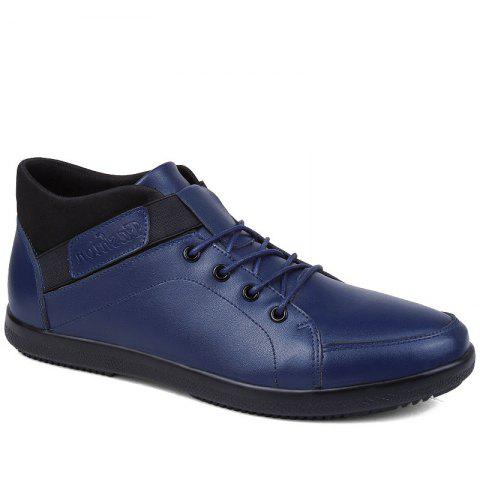 Fashion Casual Shoes with Cashmere - BLUE 44