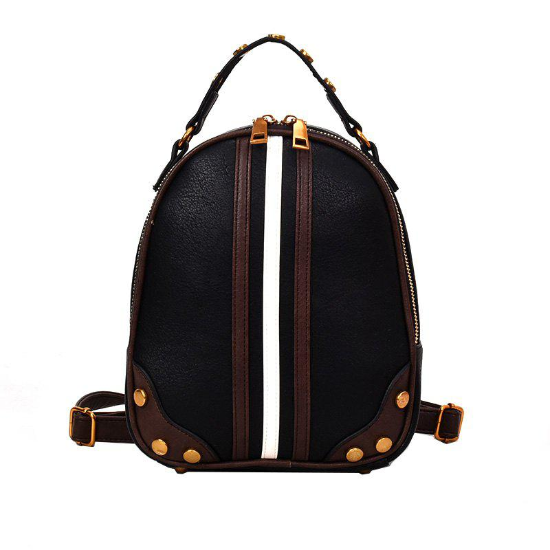 Wild Messenger Hit Color Shoulder Bag Handbag Female - BLACK