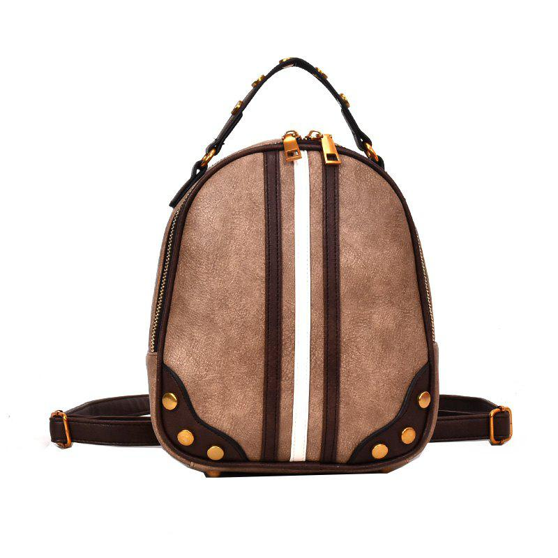 Wild Messenger Hit Color Shoulder Bag Handbag Female - KHAKI