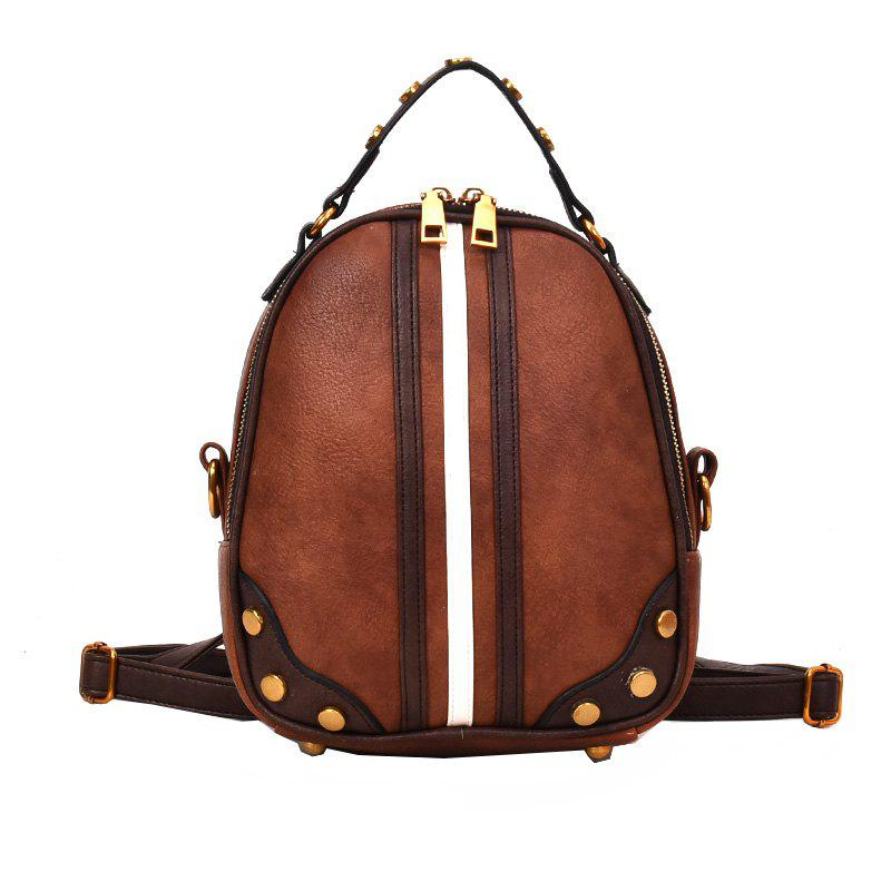 Wild Messenger Hit Color Shoulder Bag Handbag Female - BROWN