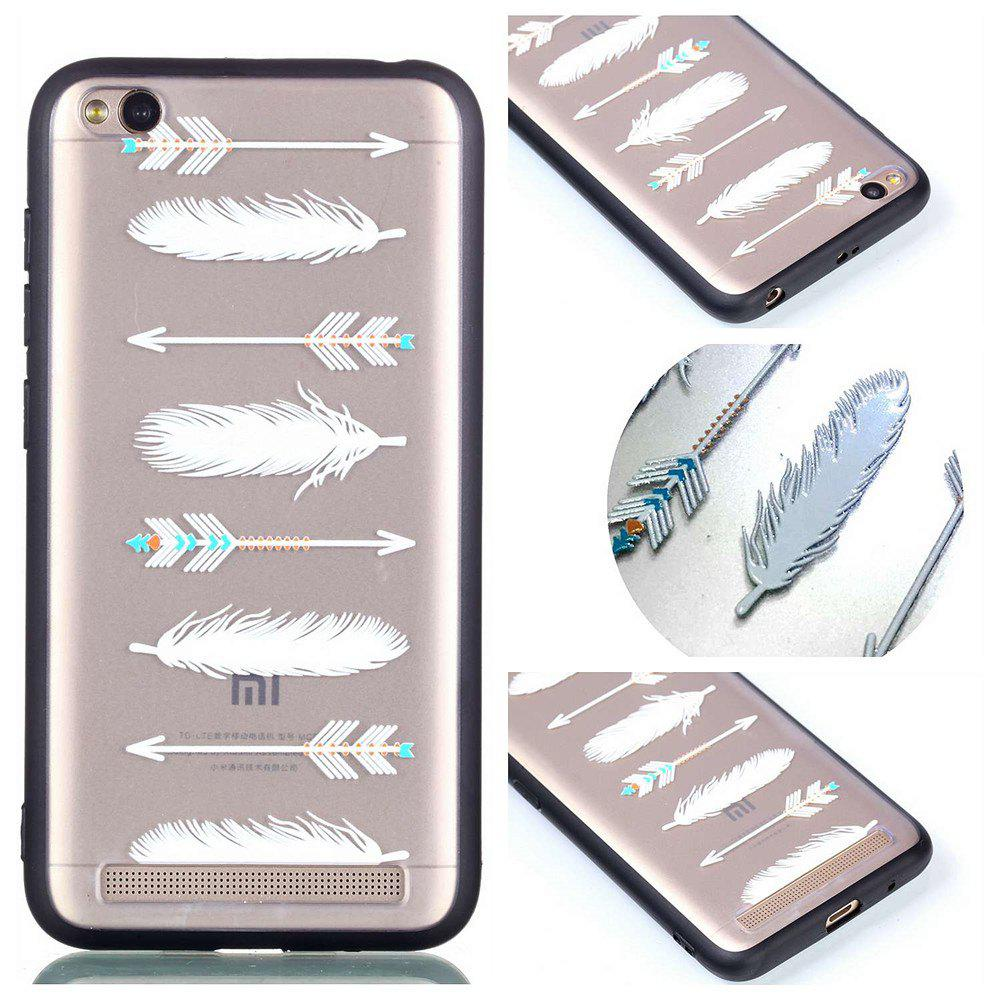 Cover Case for Redmi 5A Relievo Arrow Feathers Soft Clear TPU Mobile Smartphone Cover Shell Case - COLOUR