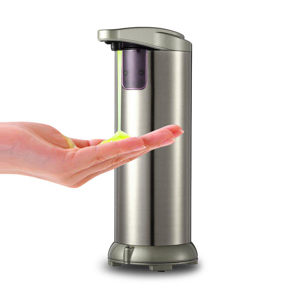 280ml Electroplated Automatic Soap Dispenser Touch-free Sanitizer Dispenser Built-in Infrared Smart Sensor - CHAMPAGNE