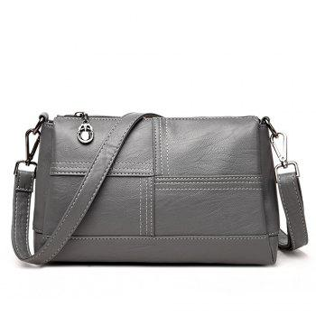 Messenger Female Fashion Stitching Wild Shoulder Bag - GRAY GRAY