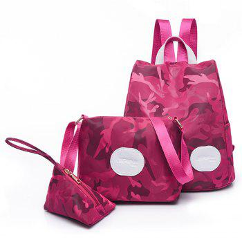 Nylon Simple Fashion Personality Mummy Backpack Package - SANGRIA SANGRIA