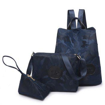 Nylon Simple Fashion Personality Mummy Backpack Package - BLUE BLUE