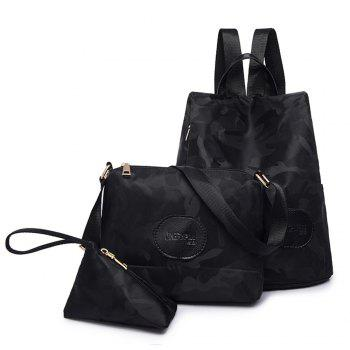 Nylon Simple Fashion Personality Mummy Backpack Package - BLACK BLACK