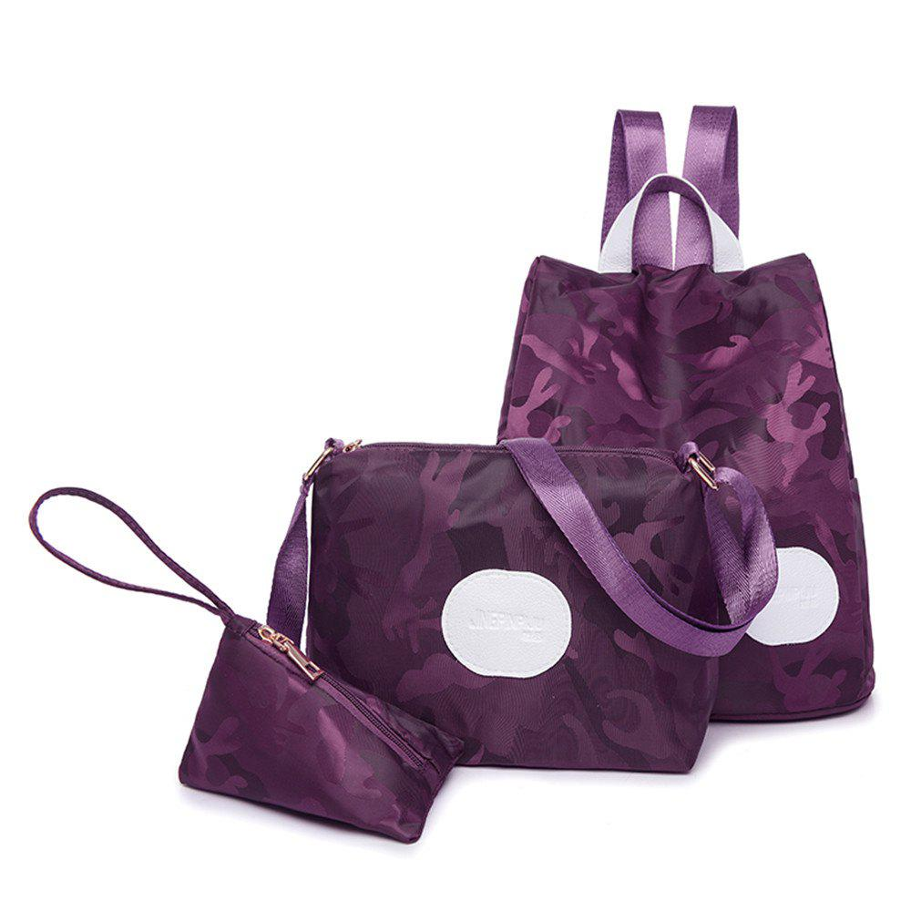 Nylon Simple Fashion Personality Mummy Backpack Package - PURPLE