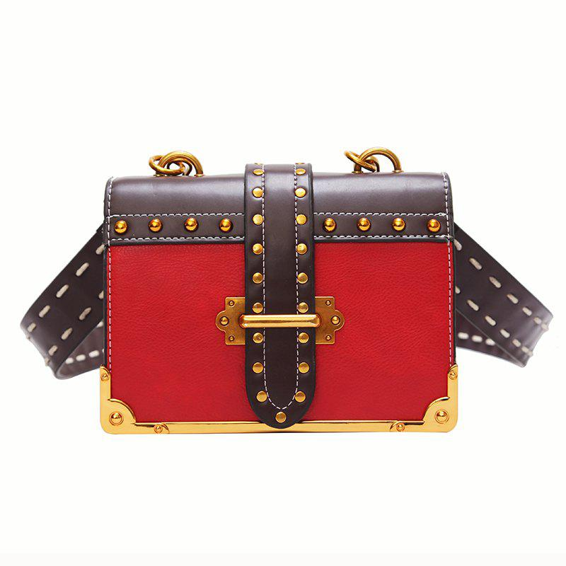 Wild Girls Oblique Cross Shoulder Bag - RED