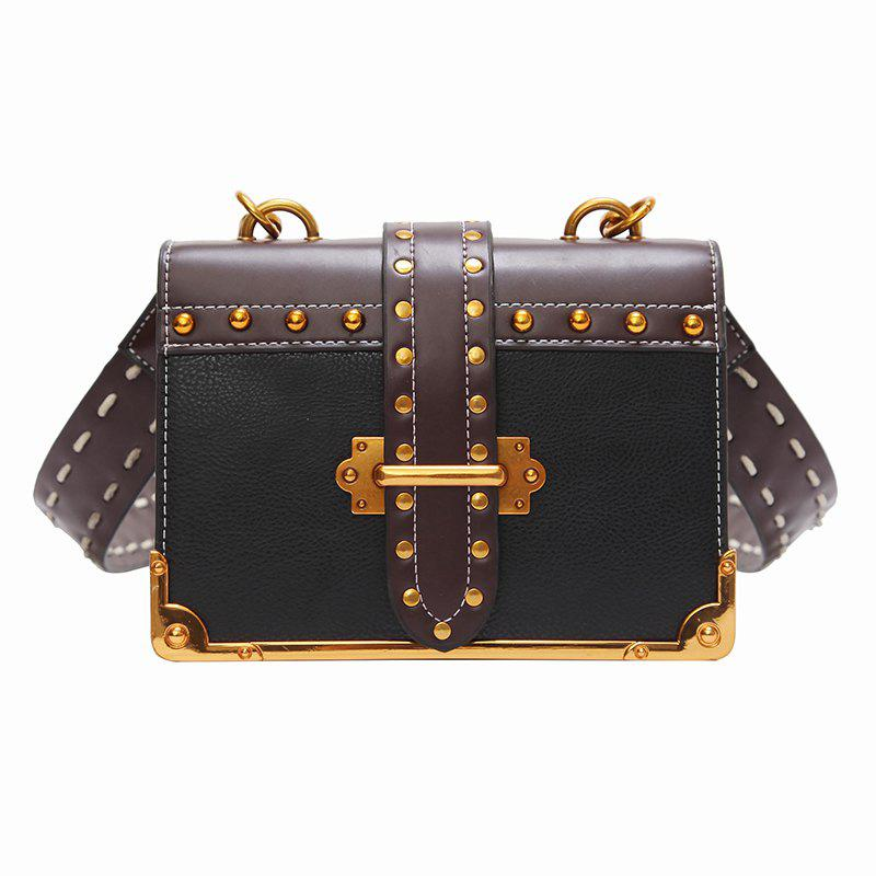 Wild Girls Oblique Cross Shoulder Bag - BLACK