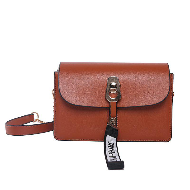 Simple and Versatile Chain Female Diagonal Shoulder Bag - BROWN