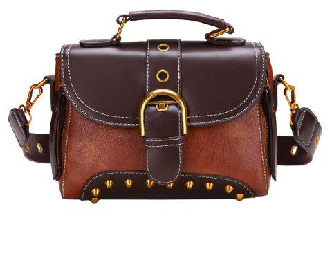 Wild Messenger Bag Fashion Simple Shoulder Bag - BROWN