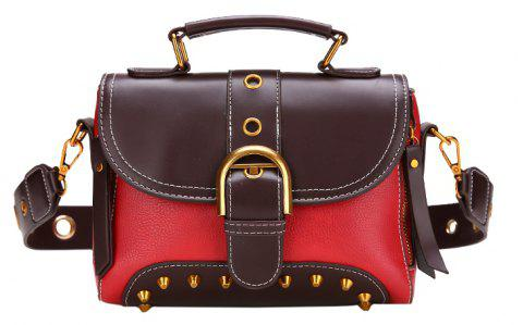 Wild Messenger Bag Fashion Simple Shoulder Bag - RED