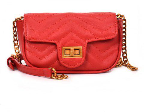 Shoulder Lock Small Square Bag Messenger Bag - RED