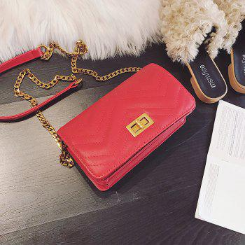 Small Fragrant Fashion Wild Buckle Messenger Bag - RED