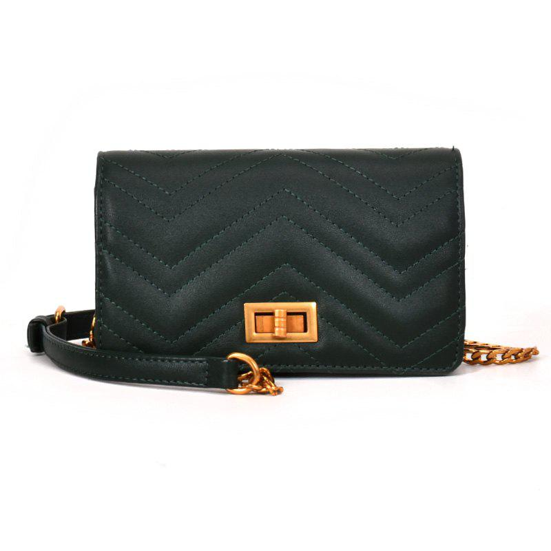 Small Fragrant Fashion Wild Buckle Messenger Bag - GREEN