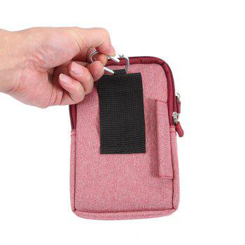 Universal Denim Leather Cell Phone Bag Belt Clip Pouch Waist Purse Case Cover For All SmartPhone Below 6.3 Inch - RED