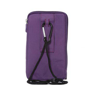 Outdoor Sport Bags Mountaineering Bag 6.4 Inch Multifunction Case For All SmartPhone Bellow 6.4 Inch - PURPLE