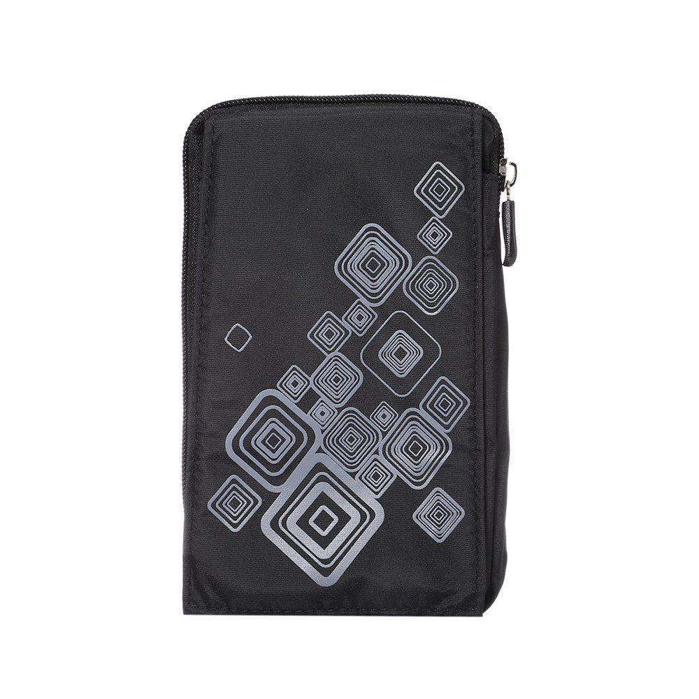 Outdoor Sport Bags Mountaineering Bag 6.4 Inch Multifunction Case For All SmartPhone Bellow 6.4 Inch - BLACK