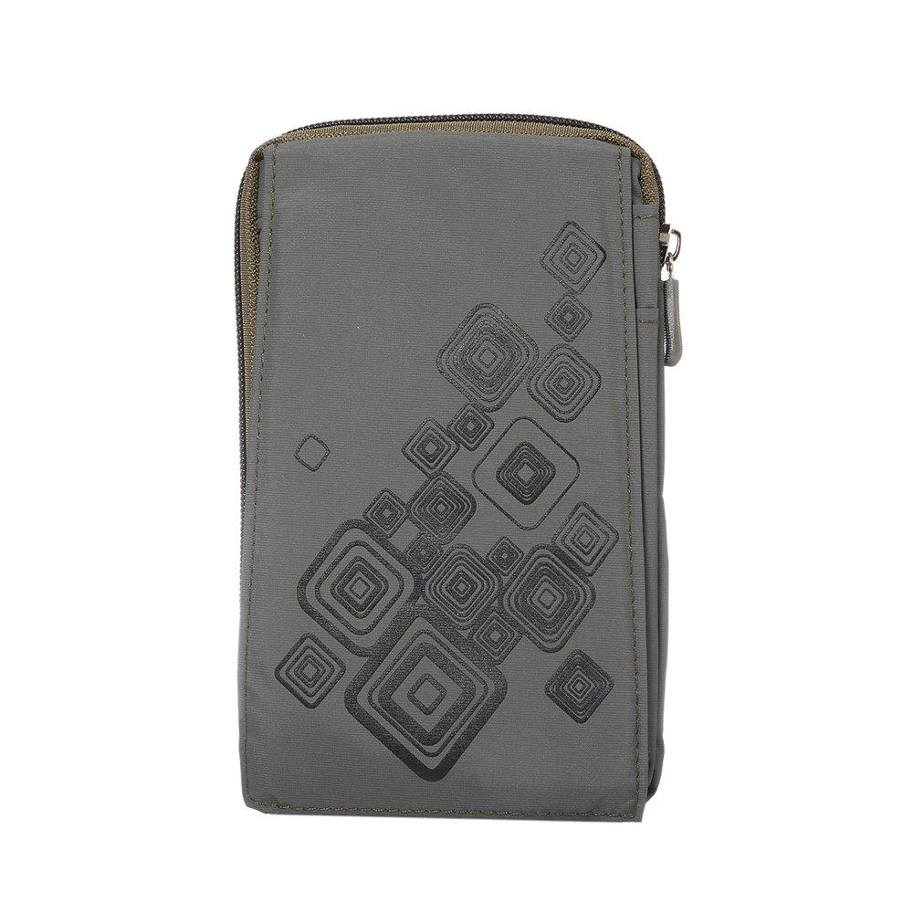 Outdoor Sport Bags Mountaineering Bag 6.4 Inch Multifunction Case For All SmartPhone Bellow 6.4 Inch - GRAY