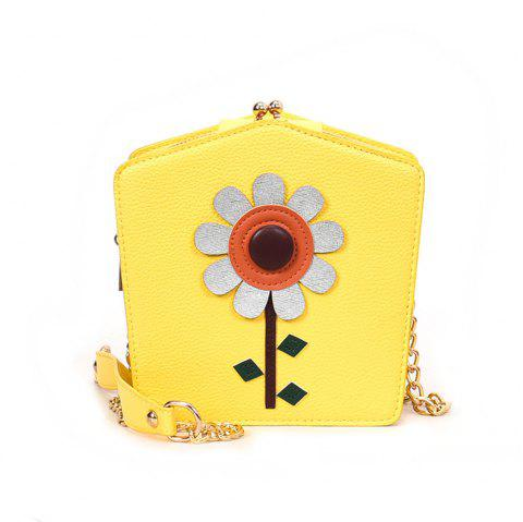 Cute Little Female Joker Simple Chain Meng Students Spend Messenger Bag - YELLOW