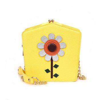Cute Little Female Joker Simple Chain Meng Students Spend Messenger Bag - YELLOW YELLOW