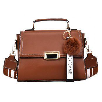 Fashionable Atmosphere Female Wild Messenger Shoulder Bag Wide Strap Small Square Package - BROWN BROWN