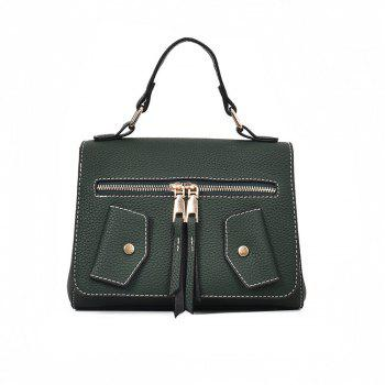 One Shoulder Wild Messenger Fashion Small Square Bag Handbags - GREEN GREEN