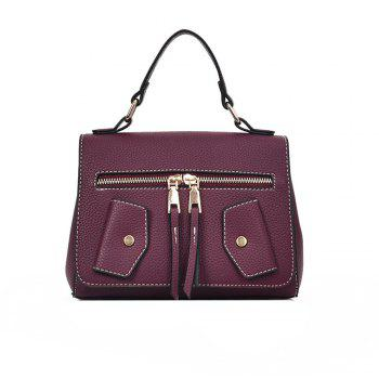 One Shoulder Wild Messenger Fashion Small Square Bag Handbags - WINE RED WINE RED