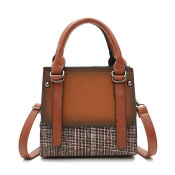 Bucket Female Fashion Wool Handbag Matte Wild Shoulder Messenger Bag - LIGHT BROWN LIGHT BROWN