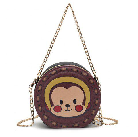 Bag Female Fashion Wild Pattern Purse Simple Shoulder Diagonal Chain Package - PURPLE