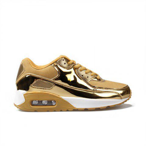 New Bright Air Cushion Lovers Shoes - GOLDEN 39