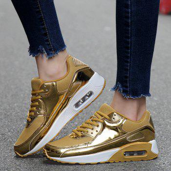 New Bright Air Cushion Lovers Shoes - GOLDEN 37