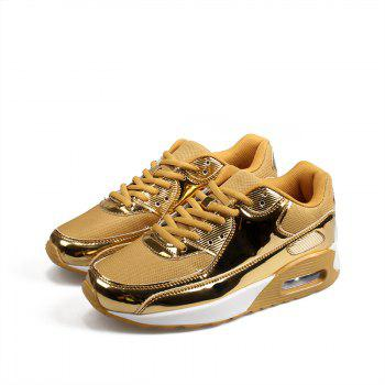 New Bright Air Cushion Lovers Shoes - GOLDEN 38