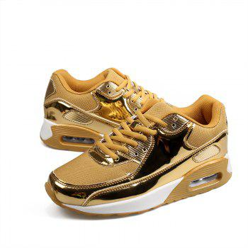 New Bright Air Cushion Lovers Shoes - GOLDEN GOLDEN